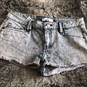 BCBG Washed Denim Shorts